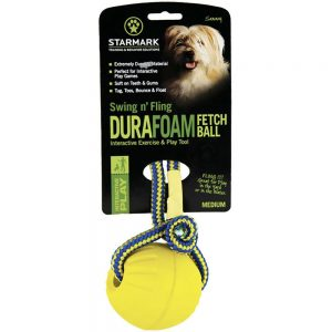Starmark Swing & Fling DuraFoam Fetch Ball